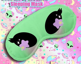 Reba the alien mask, Pastel Alien Space Cutie Sleeping Mask, Kawaii Sleeping Mask, Pastel Aliens