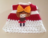 Small Crochet Lil Girl Sweater Dress Chihuahua Clothes Yorkie Apparel Small Dog Pet Clothes