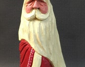 HAND CARVED original Valentine Santa with heart from 100 year old Cottonwood Bark.