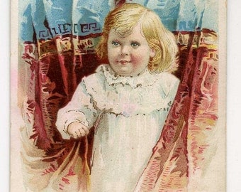 Victorian Trade Card - Baby Food Advertising.  Cute Little One - 1892
