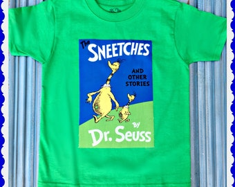 Boys Girls Dr Seuss shirt Sneetches Cat in the Hat 4/5 6/7 8/10 12/14 ready to ship