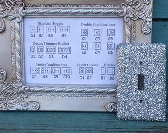 Custom Switchplate Silver Glitter