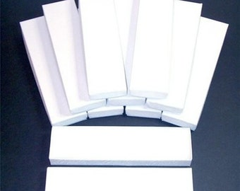 Pre Holiday Stock Up Sale 20 Pack White Color Cotton Filled 8X2X1 Inch Size Retail Jewelry Gift Presentation Boxes