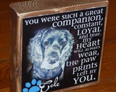 Pet Remembrance POEM Block- Larger Photo block- per block price- remember your beloved pet