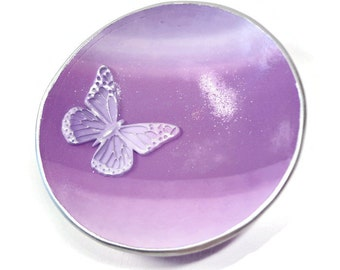 Butterfly Jewelry Dish- Wedding Ring Holder- Lavender Ring Dish- Personalized Ring Dish- Ready to Ship
