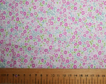 "Liberty Tana Lawn ""FAIRFORD"" pink 20 x 20cm (8 x 8"")"