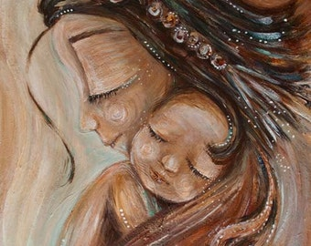 New Direction - Archival print of mother with child on shoulder