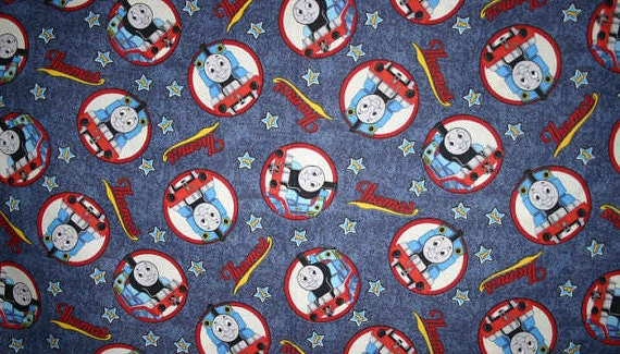 Thomas the train fabric with trains fabric by yard quarter for Train fabric by the yard