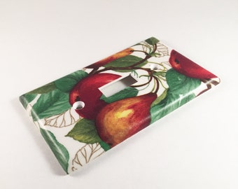 Apples and Pears Light Switch Plate - Decorative Light Switch Cover