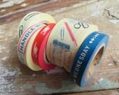 Cavallini Washi Decorative Tape Vintage Office - Set of 5