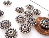 50% Off 50 pcs of Antique Silver 5x10mm Rondelle, 1mm Hole, Spacer Beads MB1018 A16