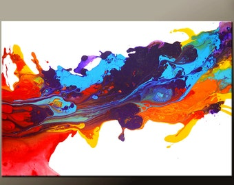 Abstract Canvas Art Painting Canvas 36x24 Original Modern Contemporary Paintings by Destiny Womack - dWo -  The Journey