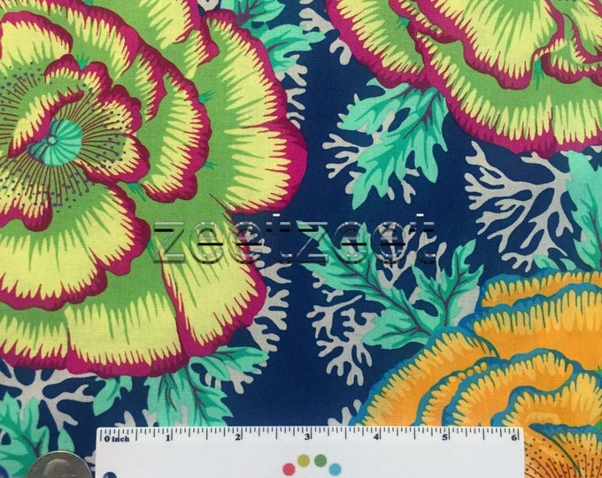 Kaffe Fassett HENLEY MIDNIGHT Blue Quilt Fabric - by the Yard, Half Yard, or Fat Quarter Fq Spring 2016 designed by Philip Jacobs