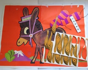 Vintage Pin the Tail on the Donkey Game party game