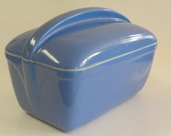 Vintage Periwinkle Blue Westinghouse Refrigerator Dish with Lid