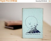 ON SALE Moon Loves Sea Notebook | moon notebook, duck egg blue bridesmaid gift, dream travelers notebook, journal diary, little girl diary
