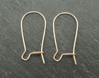 Gold Filled Kidney Ear Wire 23.5mm ~ PAIR (ET7127)