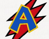 Superhero Letter Patch, Zap Letter, Personalized, Iron On