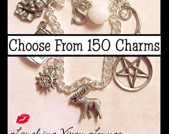 Custom Supernatural Jewelry - Customize Supernatural Necklace - Supernatural Bracelet - Simple Supernatural Charm Bracelet