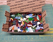 3 Pounds Stained Glass Scrap Mosaic Pieces Assorted Colors