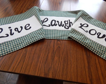 Live, Laugh, and Love Table Runner