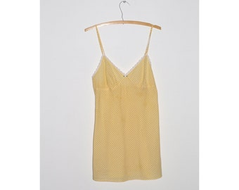 1990s Victoria's Secret Yellow Gingham Dress