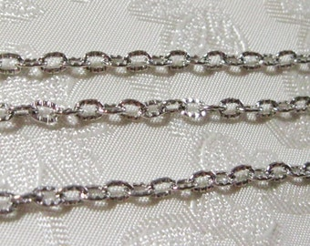 Antique Silver Plated Cross Cable Chain Textured Link 5mm x 3mm 364