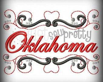 Oklahoma State Pride Embroidery Design
