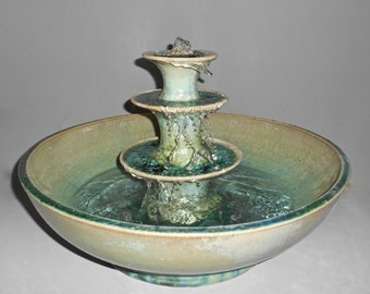Pale green crystalline glazed fountain