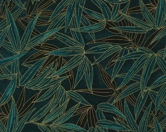 NEW - One yard - Teal Bamboo - BAMB-11