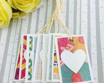 Mini Heart Tags Bohemian Chic Collection Set of 9