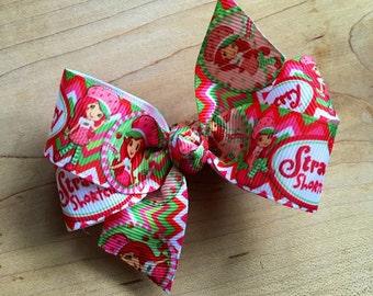 Strawberry Shortcake Hair Bows