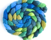 Finn Wool Roving - Hand Painted Spinning or Felting Fiber, Yesterday and Tomorrow