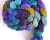 Polwarth/Silk Roving - Handpainted Spinning or Felting Fiber, Music in the Air