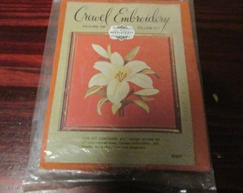 Elsa Williams Crewel Embroidery Kit Lily KC 827 Complete and Ready to Stitch Floral Flower