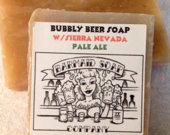 Beer soap with Pale Ale Great outdoors fresh cooling scent