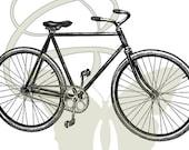 Vintage Bike Travel Digital Image Download Printable Illustration Bicycle Clip Art 042