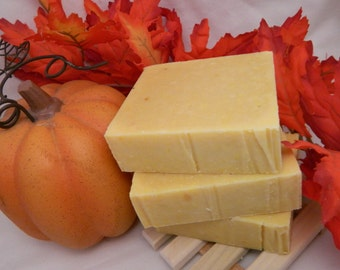 Fragrance Free Pumpkin Goats Milk Soap made with REAL pumpkin and goats milk