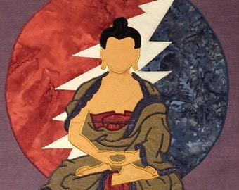 CUSTOM ORDER: buddha and 13 point lightning bolt grateful dead patch
