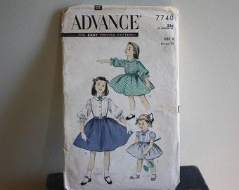 Advance Pattern 7740 Child's Dress