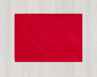 10 A2 Envelopes - Euro Flap - Red - DIY Invitations and Response - Envelopes for Weddings and Other Events