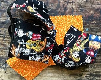 Day of the Dead Banner / Pennants Skeletons Orange and Black Muertos Fiesta