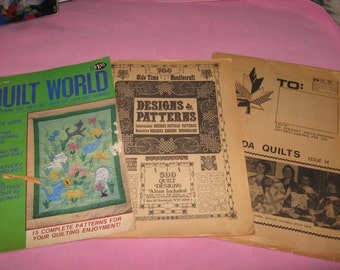 Quilt booklets and leaflets, assorted