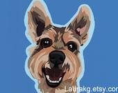 Pop Art Dog 5 Greeting Cards Schnauzer Colorful