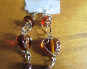 wire brown heart