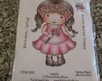Spring Marci, La-La Land Crafts Stamp