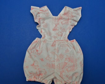 Toile Baby Girl Romper Size 1