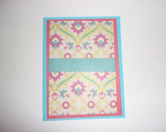 Patterned Note Card
