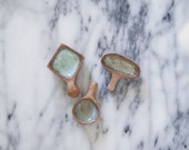 diamond + round  + oblong ceramic scoop