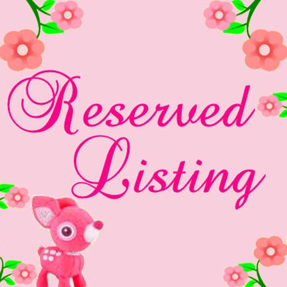 Reserved listing for withmealways